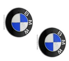 BMW Wheel Center Cap Emblem Decals Stickers 70mm SET OF 2 Genuine