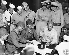 1945-Rear Adm. Shigematsu Sakaibara Signs Surrender of Wake Island-Sou. Pacific