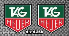 2x Tag Heuer Watch decal sticker Moto GP motorcycle or car Belly Pan FREE SHIP