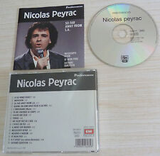 RARE CD PREFERENCES SO FAR AWAY FROM LOS ANGELES PEYRAC NICOLAS 16 TITRES 1991
