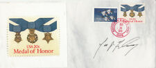 USA Medal of Honor FDC  Signed J P Fleming  Vietnam Helicopter Commander