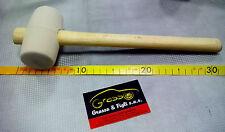 Martello in gomma Bianca piccolo con manico in legno