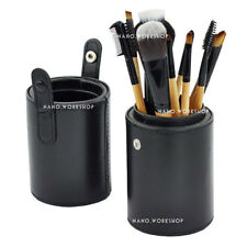 New Black Leather Brush Empty Holder Makeup Bag Match Your Own Brushes 819