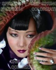 ANNA MAY WONG DRAGON LADY 8X10 BEAUTIFUL COLOR PHOTO BY CHIP SPRINGER