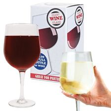 GIANT WINE GLASS HOLD FULL BOTTLE NOVELTY MUM DAD MOTHERS DAY FESTIVAL DRINKING