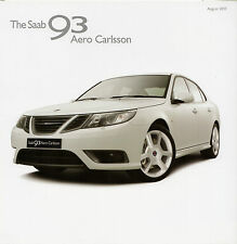 Saab 9-3 Aero Carlsson 2.8 V6 T Saloon Limited Edition 2010 UK Market Brochure