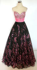 Party Time Black Pink Ball Prom Formal Gown 8 - $438 NWT
