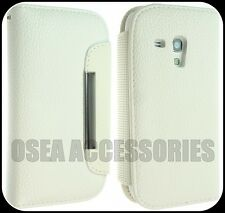 SAMSUNG i8190 GALAXY S3 MINI Leather Case Cover Flip Pouch Back Book Wallet S111