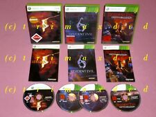 3x XBox_Resident Evil 5 & Resident Evil 6 & Operation Raccoon City _Erstausgaben