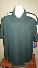 XL Holloway Dry Excel Elite Wicking Tech Green White Golf Polo Shirt NA GED