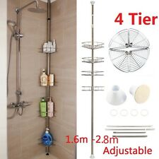 METAL CORNER SHOWER BATHROOM BASKET CADDY SHELF STORAGE SHELVES ORGANISER RACK