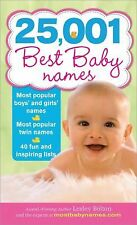 25,001 Best Baby Names by Lesley Bolton (2009, Paperback)