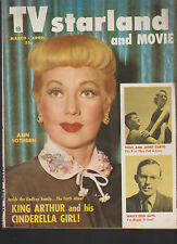 TV Starland and Movie Magazine March 1954 Ann Sothern Tony Curtis Wally Cox