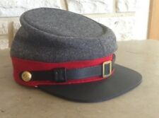 Confederate Artillery Kepi, Richmond Gray/Red Civil War Hat, US Made, New