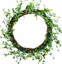 "20"" Berry Leaves Wreath Green Easter Spring Fall Holiday Door Wall Decor 957u"