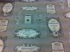 +NEW+ FRYETT`S~Vintage Label~Wine/Perfume Thick Cotton Fabric Curtain/Upholstery