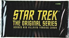 Rittenhouse Star Trek TOS Heroes & Villains Factory Sealed Trading Card Pack