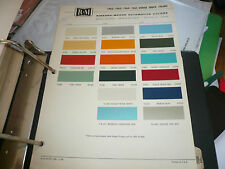 1962 1963 1964 1965 Dodge Truck R-M Color Chip Paint Sample