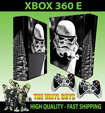 XBOX 360 E STORMTROOPER STAR WARS EMPIRE SOLDIER STICKER SKIN & 2 PAD SKIN