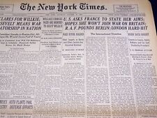 1940 OCTOBER 26 NEW YORK TIMES - LONDON HIT HARD - NT 2927