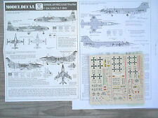"T-33/F-104G STARFIGHTER/FIAT G.91R ""3 GERMANE AF/MARINE"" MODELDECAL 1/72"