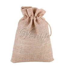 Natural Burlap Hessia Candy Gift Bags Wedding Party Favor Pouch 9.5cm*13.5cm