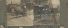SET OF TWO PHOTOGRAPHS OF GENERAL STORE W/ HORSE   WAGON - VALENCIA, PA