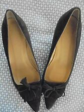 J.Crew Brown Suede Leather Pointed Pointy Toe Kitten Heels Sz 7.5M