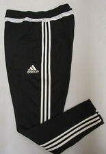 Men's Adidas Tiro 15 Training Pants, New Black Climacool Soccer Sweat Pant Sz L