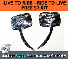 Live to Ride - Ride to Live - Free Spirit Chrome Harley Motorcycle Mirrors