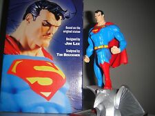 DC DIRECT SUPERMAN Mini-STATUE By JIM LEE MIB!! Maquette Batman JUSTICE LEAGUE