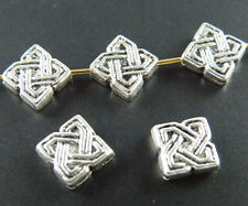 30pcs Tibetan Silver Tie Design Spacers 9x9mm 867