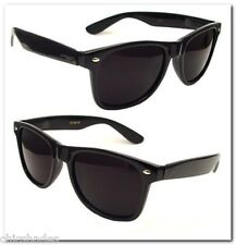 2 Pair 80's Soul Man Blues Brothers Wayfarer Super Dark Smoke Lens Sunglasses