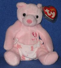 TY IT'S A GIRL the BEAR BEANIE BABY - MINT with MINT TAGS