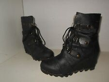"""SOREL"" Women's Sz 9.5 $250.00  ""JOAN OF ARCTIC"" Fashion Wedge Mid Boots-79.89"