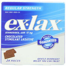 Ex-Lax Stimulant Laxative Chewables, Chocolate, 15mg, 24ct