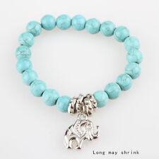 YXF moda vogue dolce braccialetto turchese perla elastica bracciale round