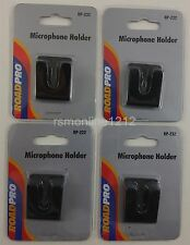 Lot of 4 RoadPro RP-232 Black Double Sided Tape Style CB Radio Mic Holders