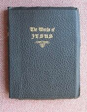 The Words of JESUS ~ John A Dickson Publishing ~ 1943 ~ Leather ~ Very Good!