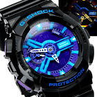 Casio G-Shock Mens Wrist Watch GA110HC-1A GA-110HC-1A Digital-Analog Black-Blue