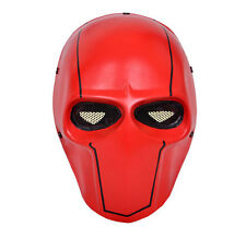 NEW Red Airsoft Gun Paintball Full Face Wire Mesh Protection Skull Mask PROP