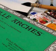 ARCHES PAQUET 8+2 FEUILLES PAPIER AQUARELLE GRAIN FIN 300 Grs FORMAT 56X76CM