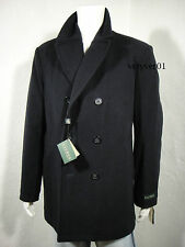 RALPH LAUREN Wool Blend Double Breasted Pea Coat Quilted Lining Navy size XXL