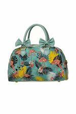 Banned Tropical Flamingo Rockabilly Vintange Retro Pin Up Handbag Wanderlust Bag