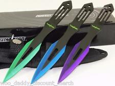 Perfect Point Rainbow Color Speed Ninja 3-PC Throwerz/Throwing Knife/Knives Set