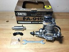 Saito FA-91S Four Stroke RC Engine with muffler NIB