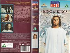 KING OF KINGS VHS PAL JEFFREY HUNTER,RIP TORN,HARRY GUARDINO,ROBERT RYAN NEW 60S