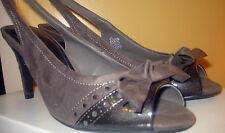 "East 5th "" Bettey"" Taupe/ nude ~ Slingbacks ~ open toes~Shoes~Bow~ SZ 8 ~ New"
