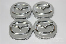 Mazda 3 6 Wheel Center Hub Cap 56mm Silver with chrome logo