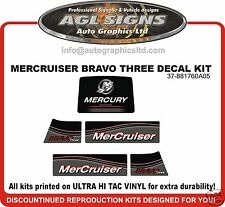 Mercruiser Bravo Three  Outdrive Decal Kit reproductions mercury   Diesel Azius